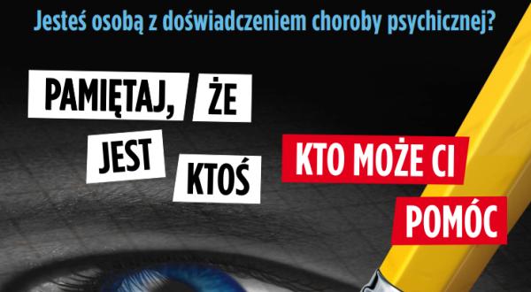 Wsparcie osób z zaburzeniami psychicznymi na Mazowszu - plakat